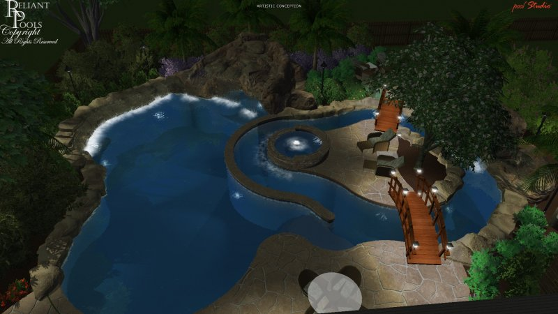 Natural Swimming Pools Designs On Lazy River Pool Designs For Home