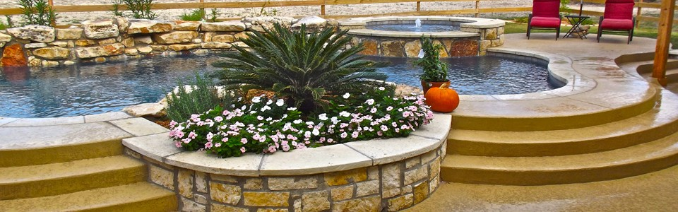 Custom Built Swimming Pool in Crystal Falls Leander Texas