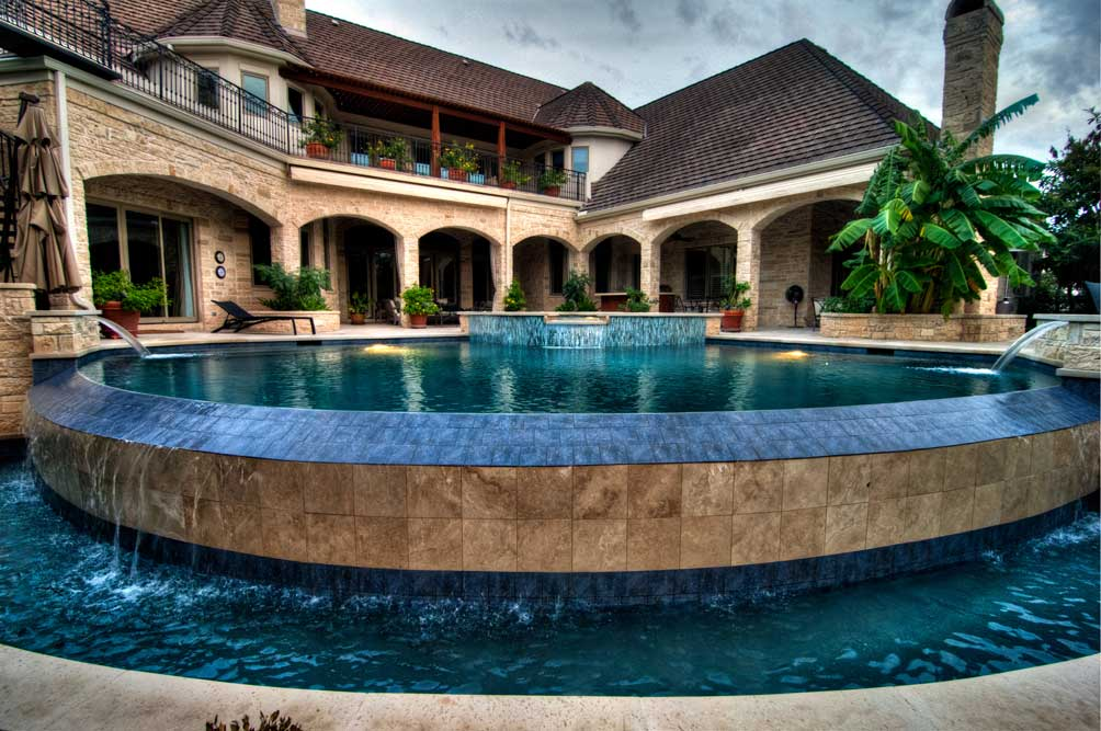 Gallery reliant pools austin 39 s custom pool builder for Pool negative edge design