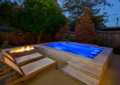 Downtown Austin Swim Spa and Firepit