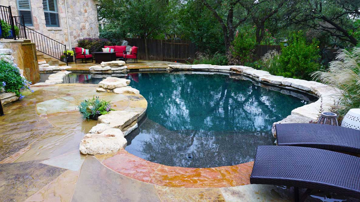 Flagstone Austin Tx Pool Builder