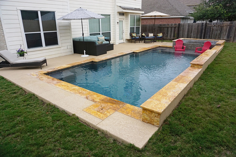 Geometic swimming pool and spa in cedar park tx reliant for Pool and spa contractors