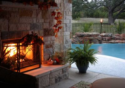 Georgetown,-Texas-Swimming-Pool-Fireplace