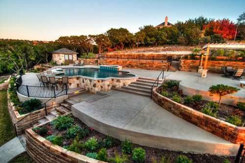 Swimming Pool Decking Options Reliant Pools Austin 39 S Custom Pool Builder Pool Builders Austin Tx