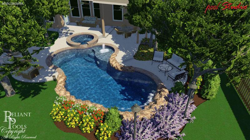 Design by price reliant pools austin 39 s custom pool for Pool design austin