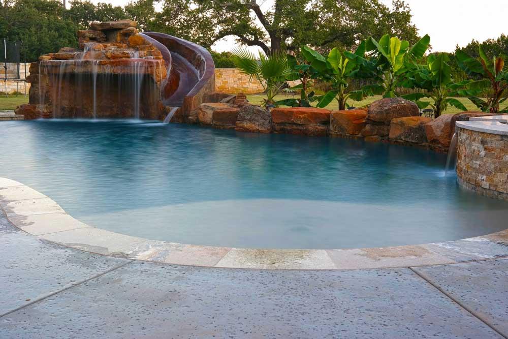 Grotto Pool Georgetown Tx Austin Pool Builders Reliant