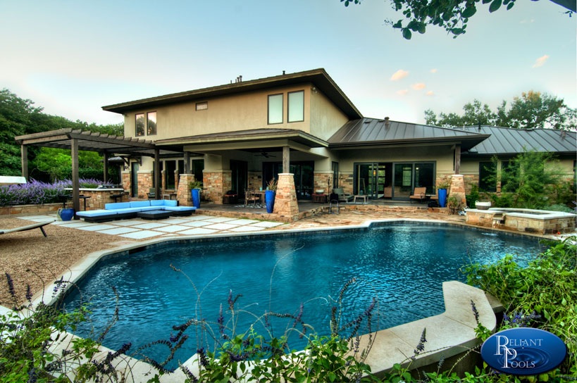 Pool builders in round rock texas reliant pools - Centennial swimming pool richmond hill ...