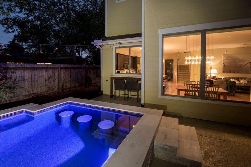 Bar Stools In Swimming Pools Reliant Pools Austin 39 S Custom Pool Builder Pool Builders Austin Tx