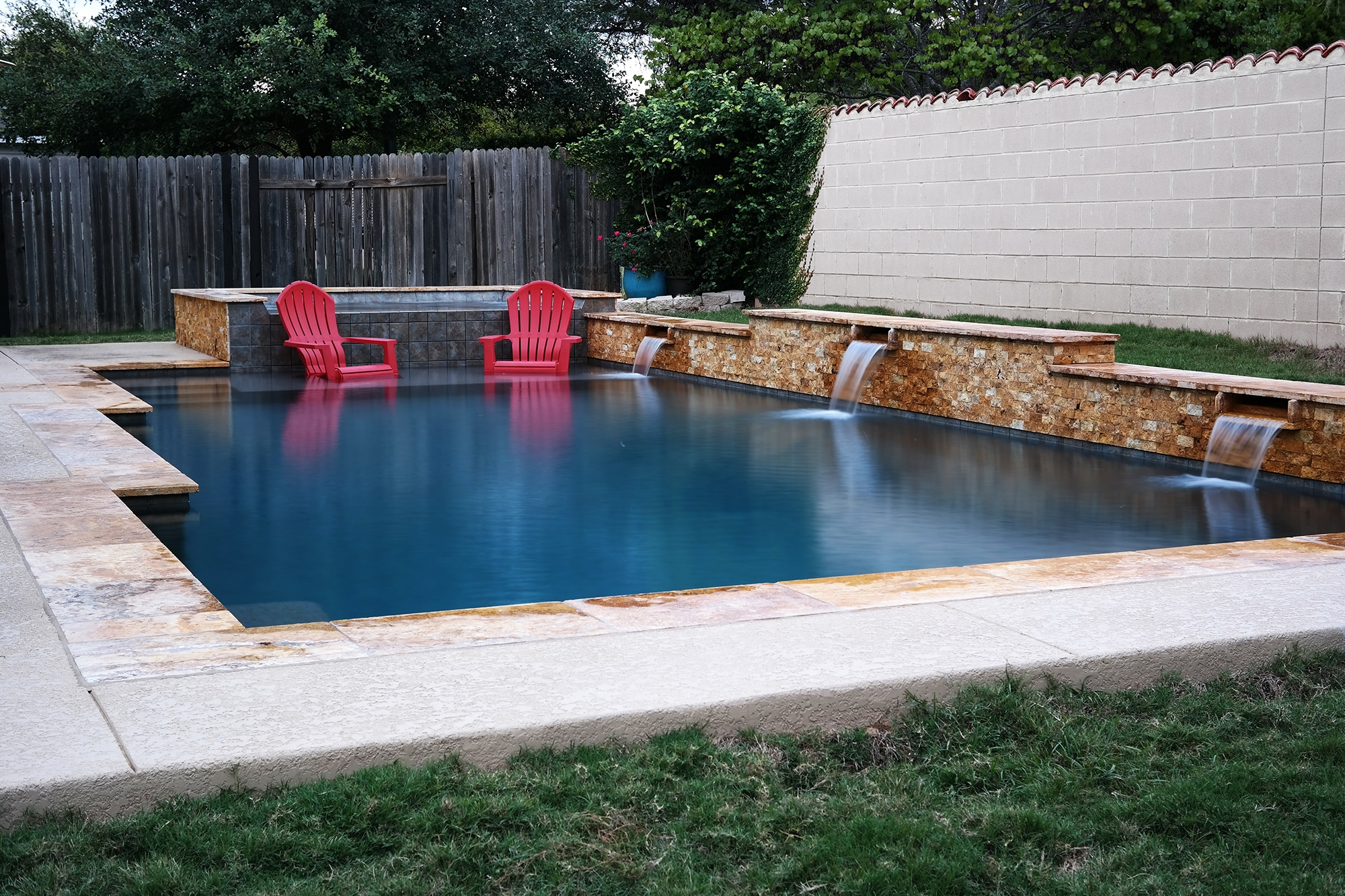 9 Geometic Swimming Pool And Spa In Cedar Park Tx 5 Reliant Pools Austin 39 S Custom Pool Builder